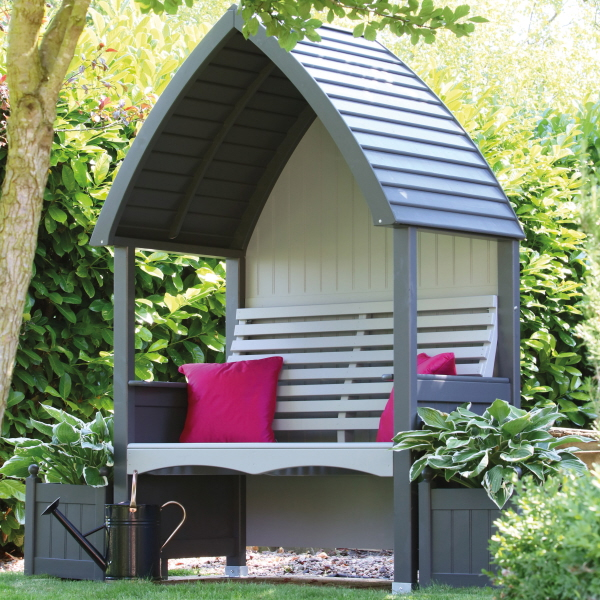 Buy Cottage Arbour Charcoal & Stone Online