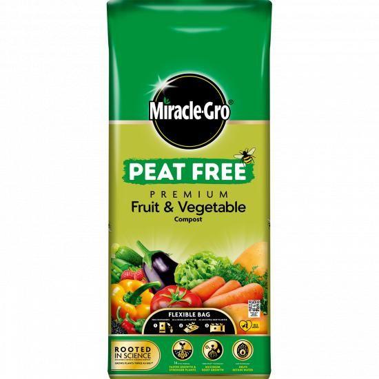Buy Miracle-Gro Peat Free Premium Fruit & Vegetable Compost Online