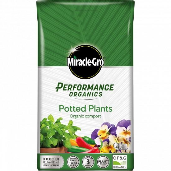 Buy Miracle Gro Performance Organic Potted Plant Compost Online