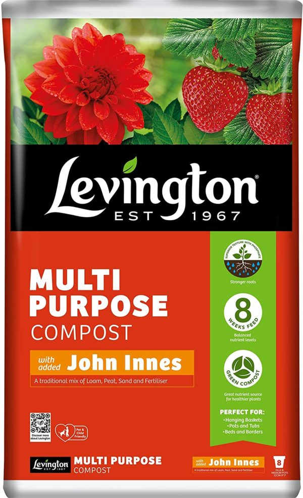 Leving ton Multi purpose PEAT FREE compost with john innes
