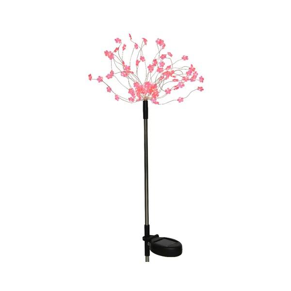 Buy Solar Stake Stainless Steel Pink Light Online